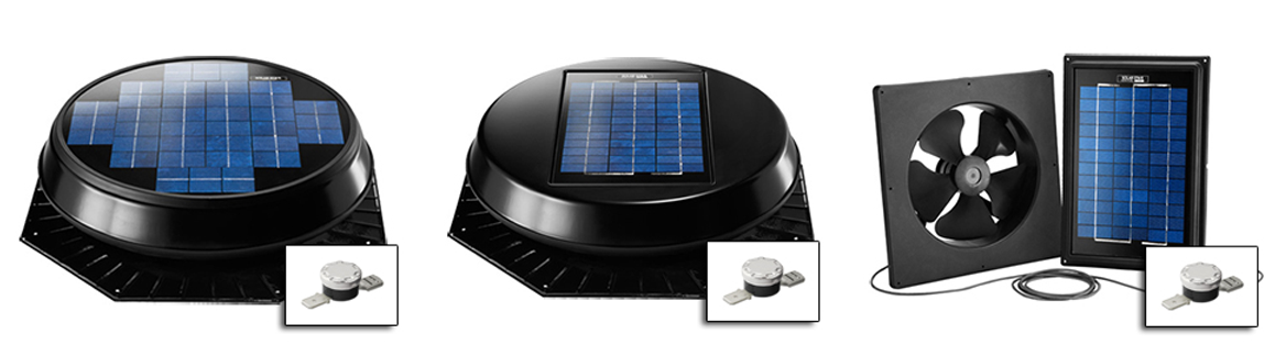 Solar Star Attic Fan Family of products