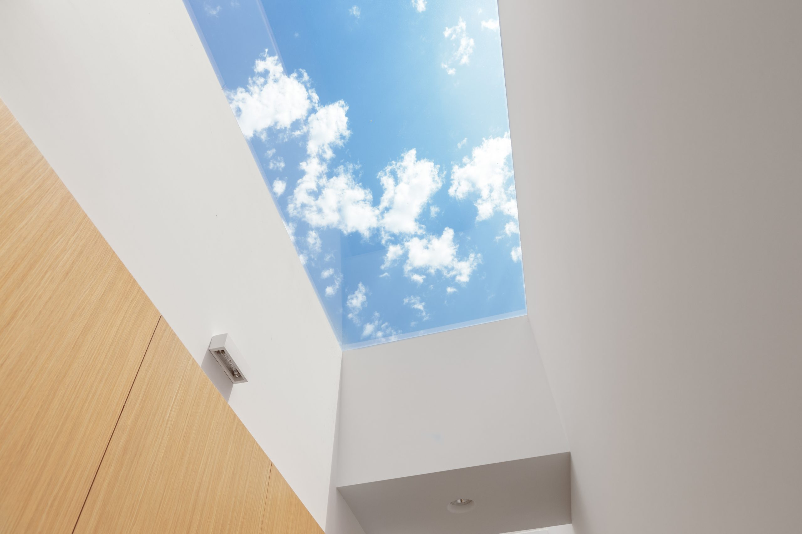 Solatube skylight in a hallway.